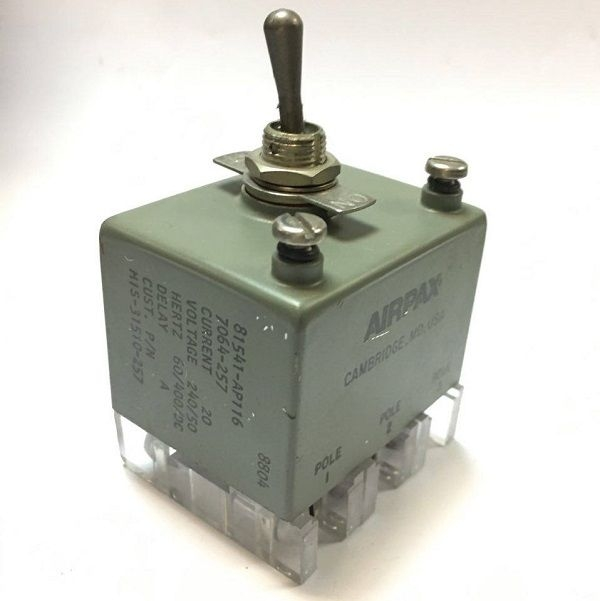 Airpax 81541-AP116 Toggle Switch NSN: 5925-01-112-4235